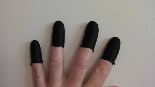 Black Guitar Fingers