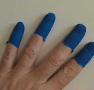 Dark Blue Guitar Fingers