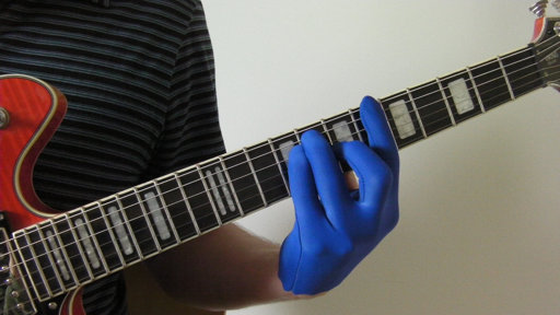 Playing Blue Guitar Glove