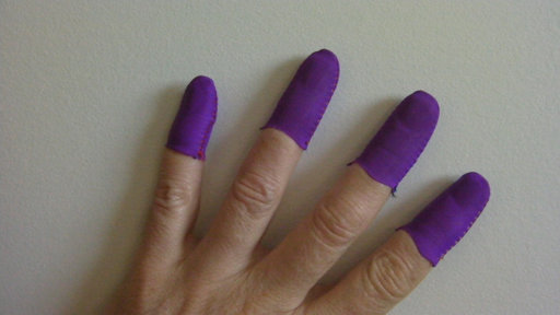 Purple Guitar Fingers